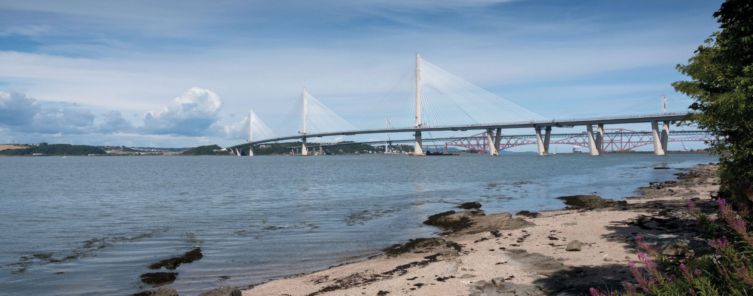 Queensferry Crossing and Forth Rail Bridge